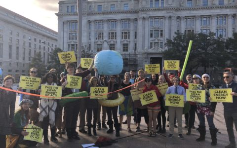 "DC Climate Advocates Hold Beach Volleyball ""Flash Mob"" Before Key Council Hearing on Historic Climate Bill"